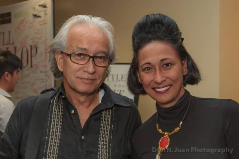 "PHOTO CAPTION: Don Gordon Bell's latest picture and event: With Cherie Gil, on last performance of ""FULL GALLOP"" a play about Fashion Doyenne Diana Vreeland, Editor in Chief of VOGUE magazine. 23 March 2014"