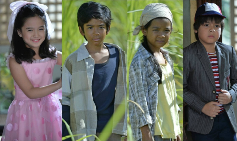 (from left to right): alyanna angeles, zaijan jaranilla, xyriel manabat & louise abuel