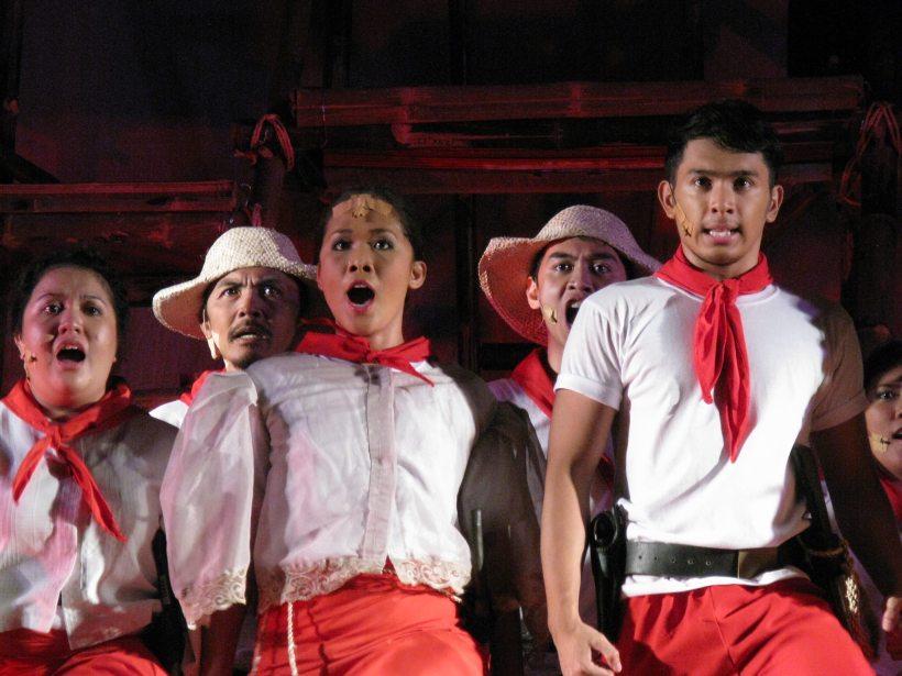 "sandino together with the other casts of ""katipunan: mga anak ng bayan"""