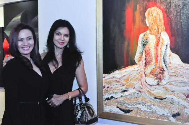 mrs. prescy valenzuela-yulo with mama maria isabel lopez and the painting!