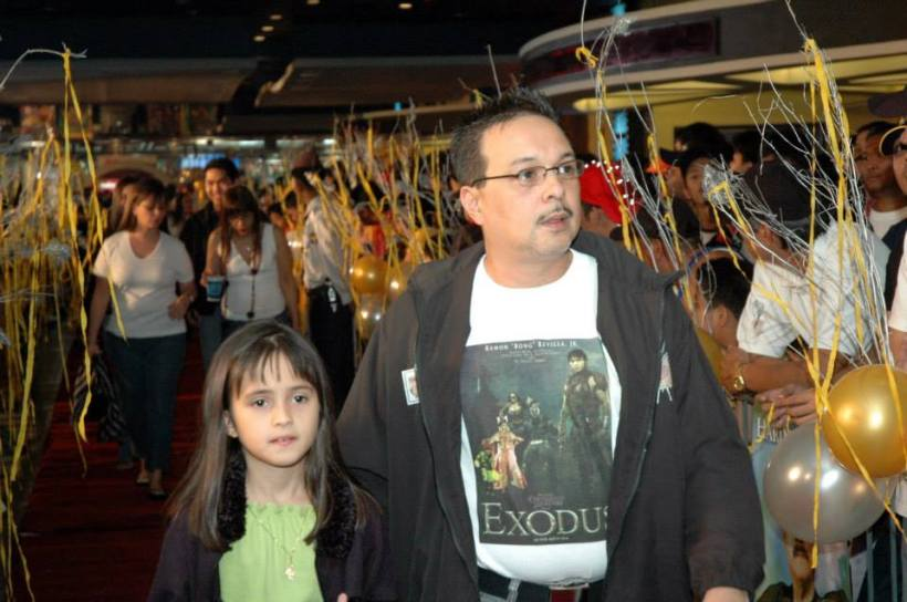 YOUNG GERTRUD (AT LEFT) WITH DAD EDWIN REYES