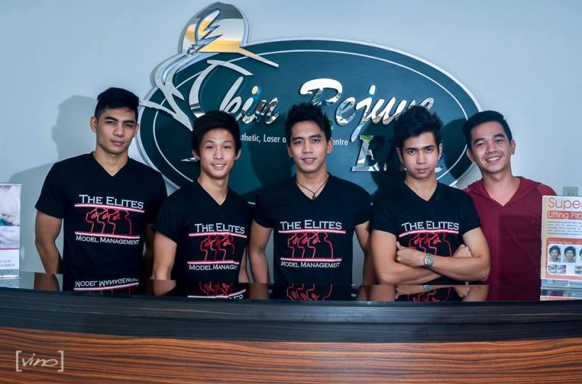 the elites young heart throbs (from left to right): paul, nikki, mark lim, mark herrera and reggie musico