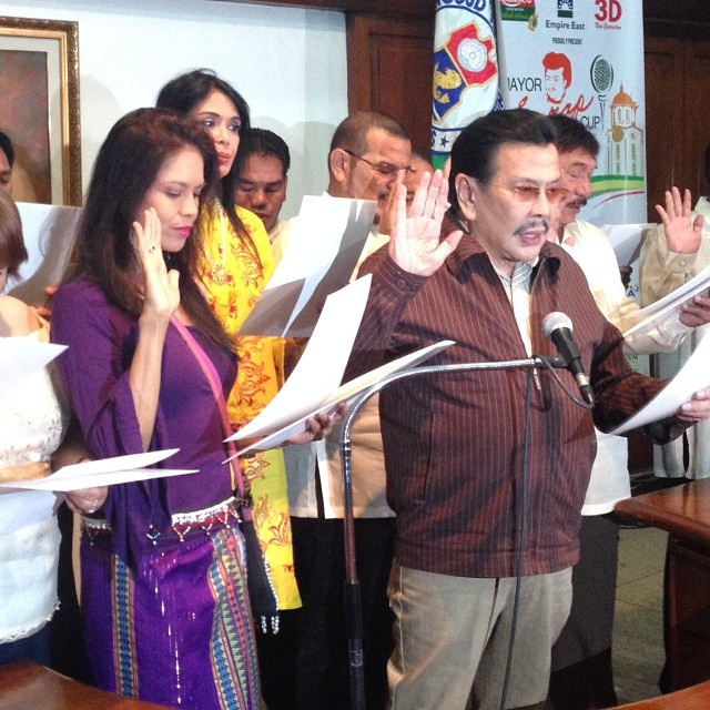 KAPPT newly-elected officers oath-taking with mayor joseph estrada