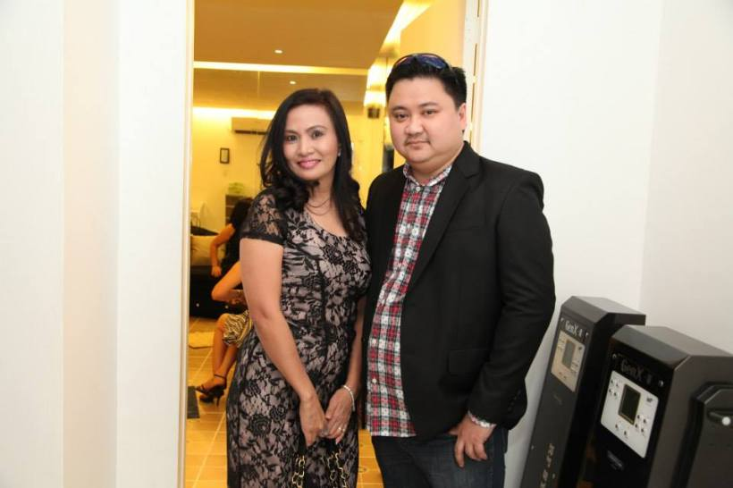 mrs. prescy valenzuela-yulo with her husband ronald.