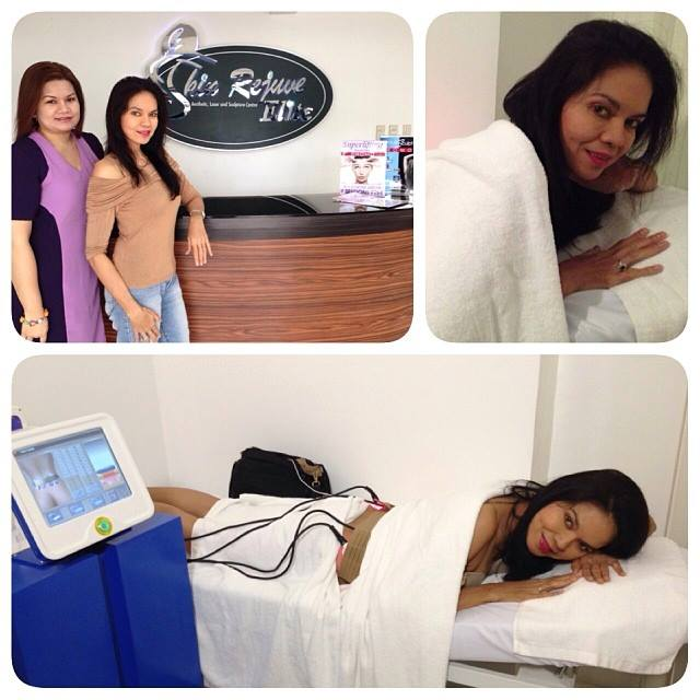 ms. maribel lopez while being treated at skin rejuve