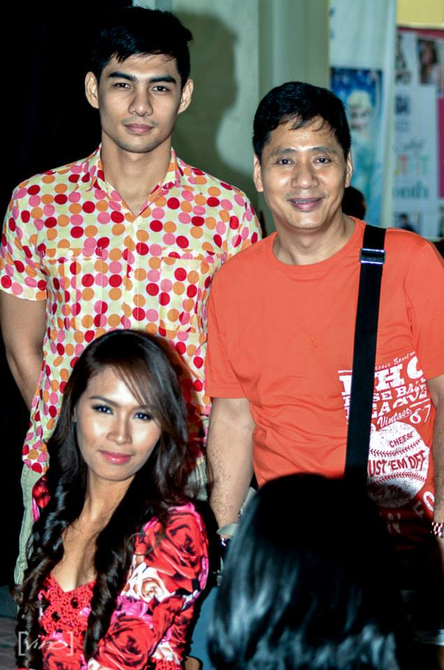 paul with female elites model christine balaguer and elites manager chikki martin