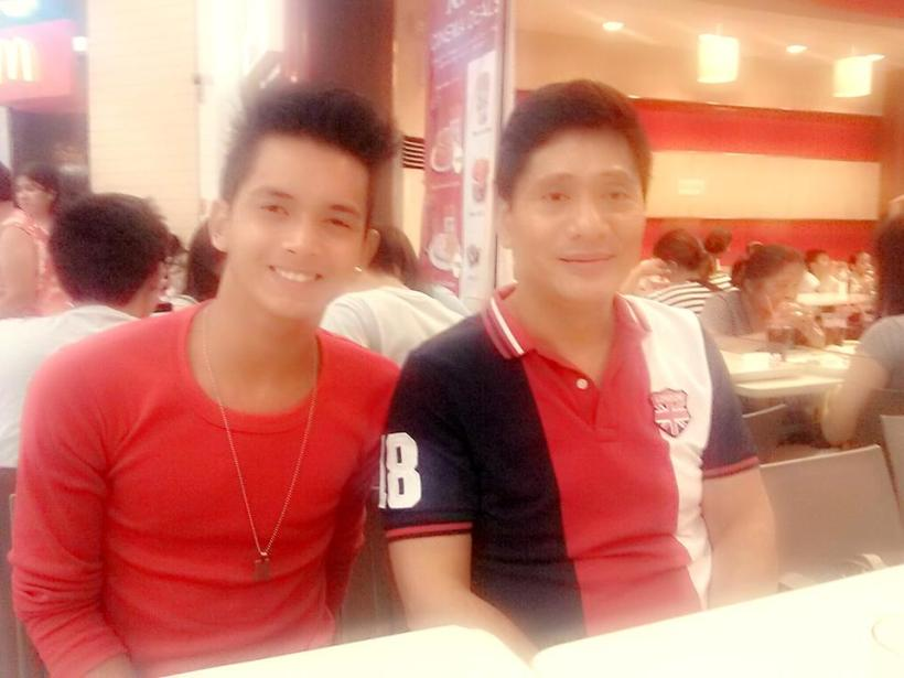 talent/model: miggy tolentino with manager chikki martin