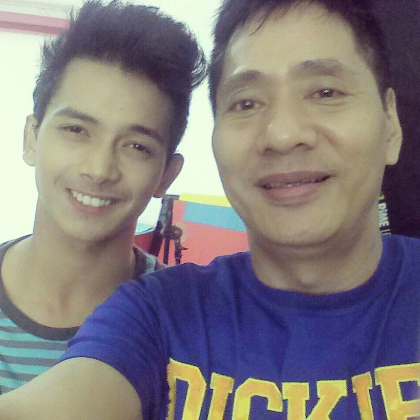 MIGGY WITH MR. MARTIN MARTIN.