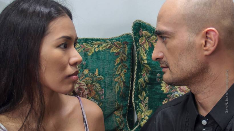 """an intimate scene with chanel and ruben in """"of sinners and saints"""""""