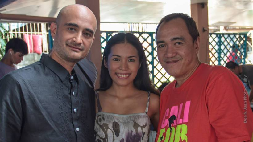 mr. soriquez with lead actress of his film- ms. chanel latorre, and blogger robert silverio