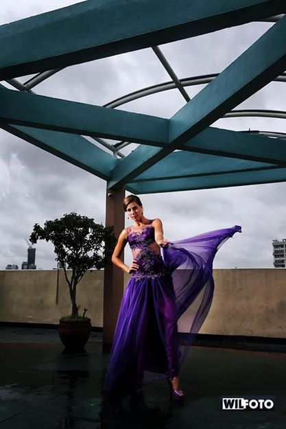 KALANI ROBERTSON IN A WIL SANTIAGO PHOTOGRAPH. DRESS MADE BY: MS. CLAIRE DOGILLO