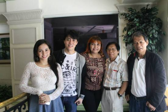 lance with his new director nards belen (4th from left), his young leading lady (first from left) and producers of his new film