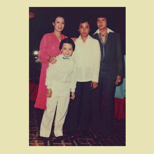little lance with kuya rannie and their parents...