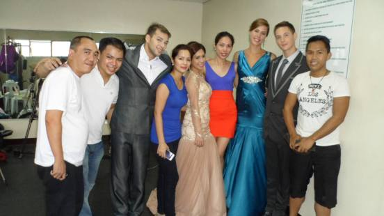tim greenwald (8th from left) in his very first portfolio fashion photo shoot at the elites model management, beside him (7th from left) is his girlfriend kalani robertson- flocked by the creative team and staff of ELITES. first from left is robert silverio, a blogger.