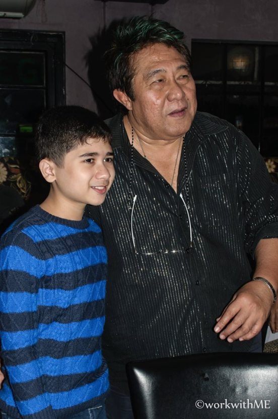 MARYO J. DELOS REYES, THE BIRTHDAY CELEBRANT, WITH YOGO SINGH
