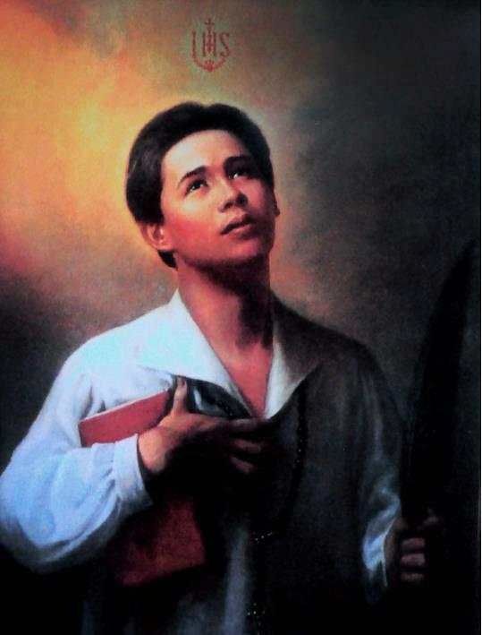 this Saintly image of San Pedro Calungsod resembles the look of Gerald Santos