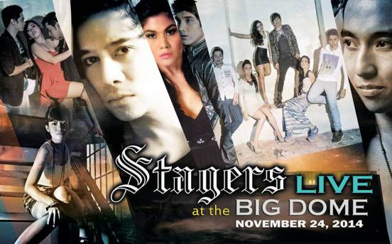 """THIS IS THE """"STAGERS: LIVE AT THE BIG DOME"""" TEASER-POSTER OF THE PHILIPPINE STAGERS FOUNDATION IN WHICH THE ELITES HEARTHROBS ARE PARTICIPATING AND GUESTING IN ONE MINI-FASHION SHOW PRODUCTION NUMBER."""
