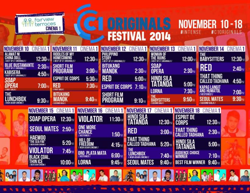 C1 ORGINALS FESTIVAL SCHEDULE-FAIRVIEW TERRACES