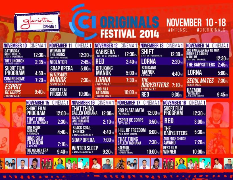 C1 ORIGINALS FESTIVAL SCHEDULE-GLORIETTA
