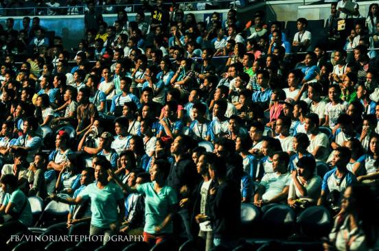 the crowd audience