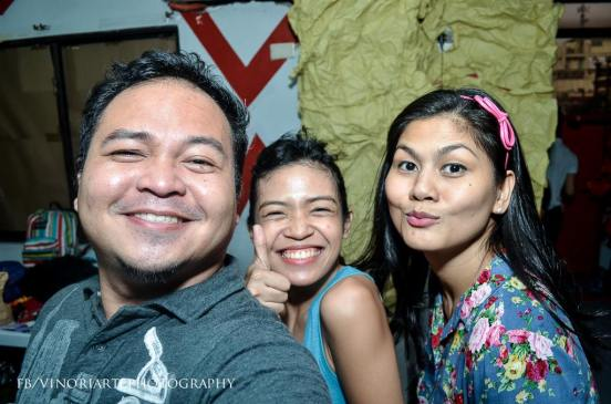 mr. vino oriarte with stagers cindy liper and adelle lim