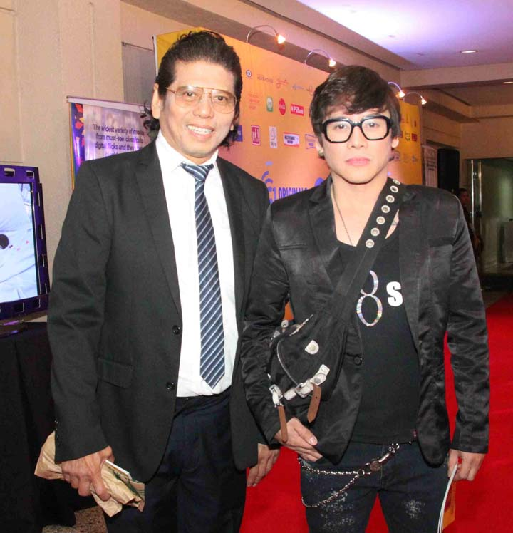 master film director elwood perez with actor vince tanada