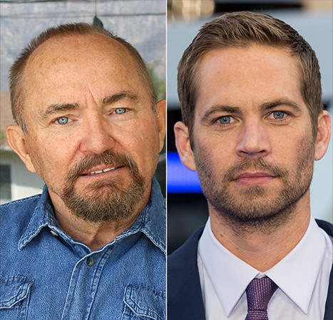 paul walker's dad (left) and paul (right)