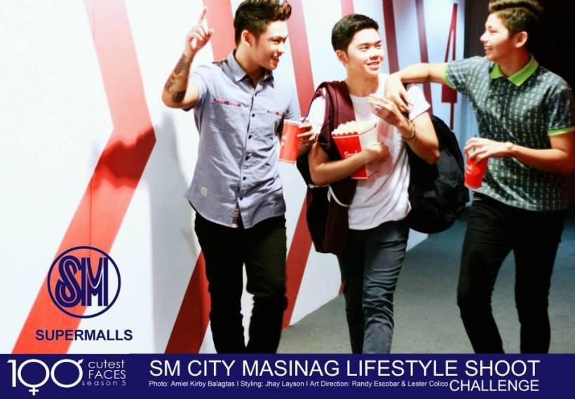 jao's ad at sm masinag. jao viola is at the left.