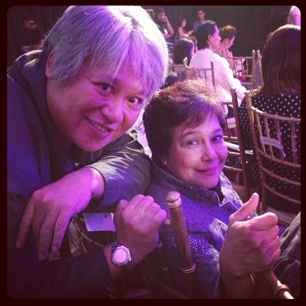 direk fran with ms. nora aunor
