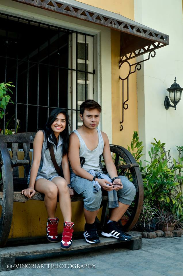 jomar with friend alence during their recently-concluded vigan, ilocos sur provincial show