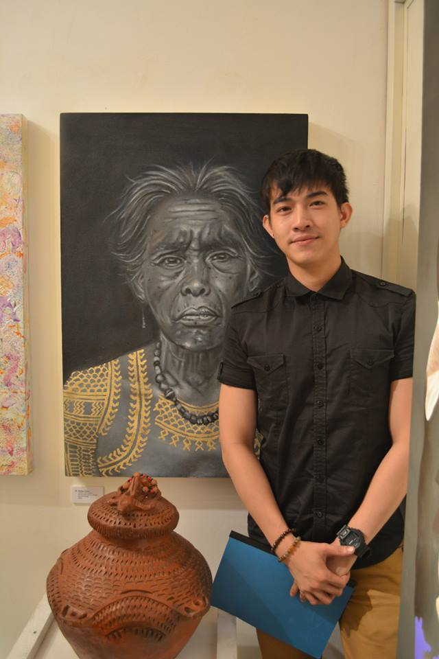 josh and his remarkable painting that looks like charcoal painting but done in oil