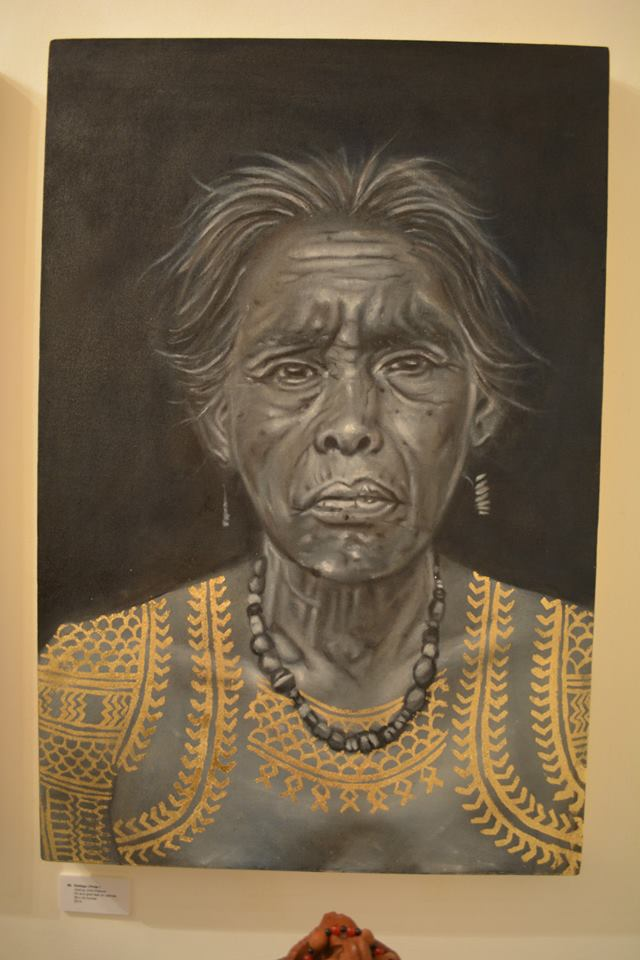 josh's great painting of a tribal elder