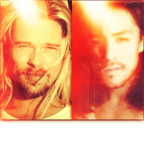brad pitt (left) and LANCE RAYMUNDO (right): both so close in being JESUS CHRIST