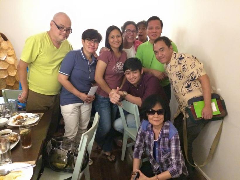 michael with media friends he dated for dinner last february 17