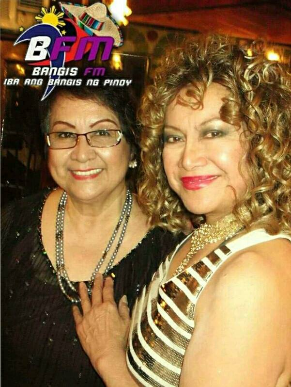 ms. lou baron with veteran filipina celebrity dj tessie lagman