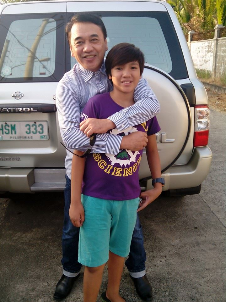 "VETERAN ACTOR, MR. ERNESTO LEGASPI WITH NEW CHILD ACTOR JEROME MILES MANZANO, THE BOY WHO PPORTRAYS THE LEAD CHARACTER IN ""BUTANDING"""