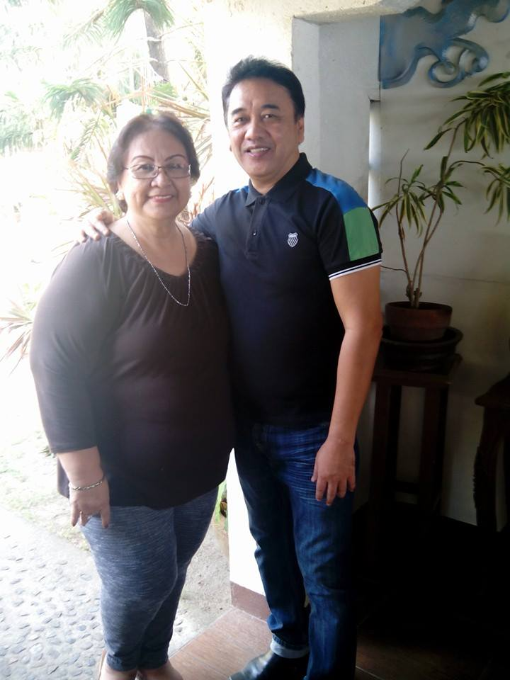 "KUYA ERNIE LEGASPI AND MAM TESSIE LAGMAN POSES DURING A TAKE IN THE FILM ""BUTANDING"""