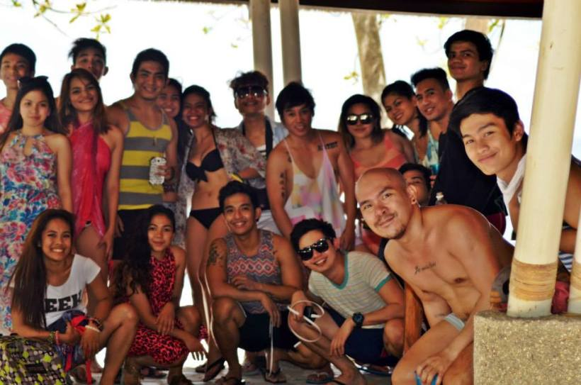 vince with the stagers at guimaras island