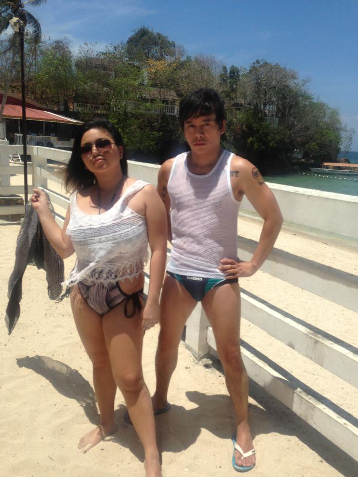 "vince with the ""queen of chubbiness""- ms. jerie sanchez"