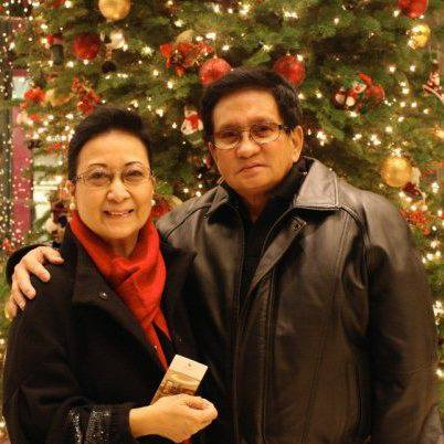 mrs. raymundo with husband danilo (lance's dad)