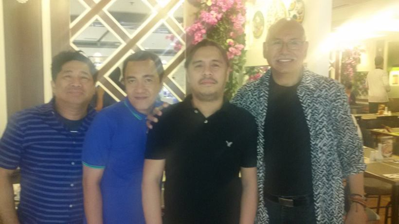 BERNARDO BERNARDO (far right) WITH, (from left): JOSEPH GELITO, BLOGGER SSSIP AND DIREK LAW FAJARDO