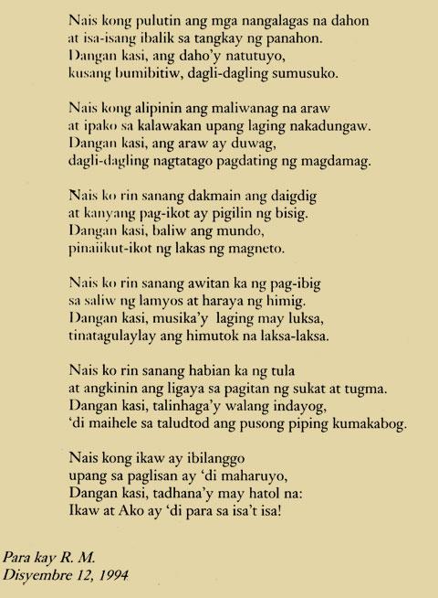 from: Nais Ko: Isang Bigong Pagtatangka www.rabernalesliterature.com