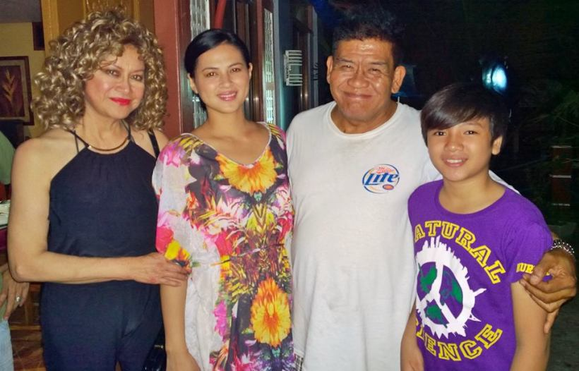 "jerome with ms. lou baron, precious lara quigaman-alcaraz and direk edd palmos (on the set of ""butanding"")"