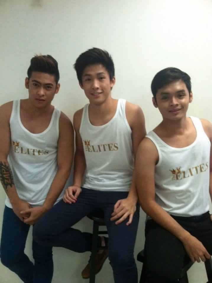 """PJ WITH HIS CO-""""ELITES HEART THROBS"""" AT THE ELITES MODEL MANAGEMENT- JAO AND NIKKI."""