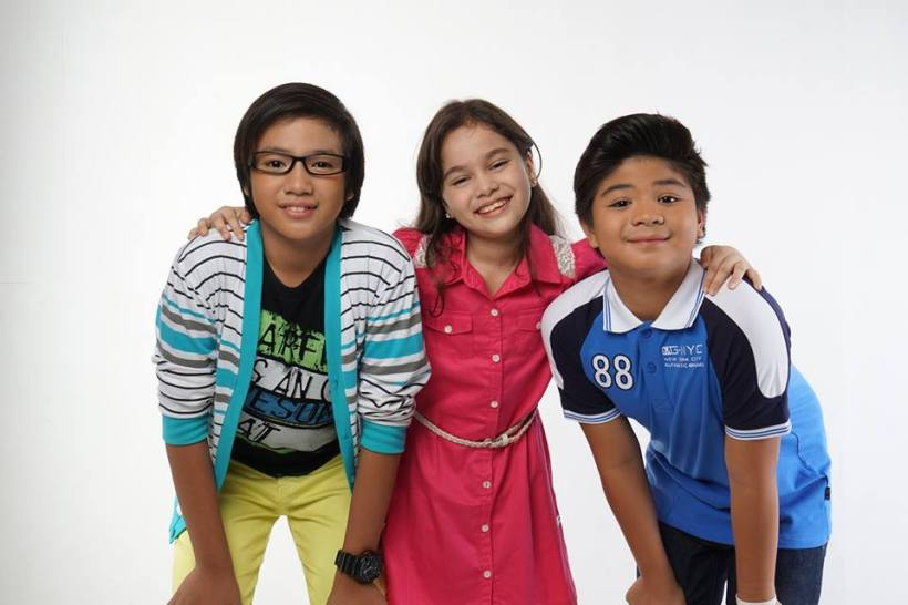 "jerome plays a nerd kid being bullied by his classmates in ""eh kasi bata!"", while mona louise rey (child actress of channel 7) and bugoy carino (top child actor of channel 2) plays as his friends and protectors in the film"