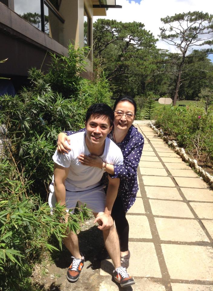 LANCE WITH HIS LOVING MOM NINA IN BAGUIO CITY