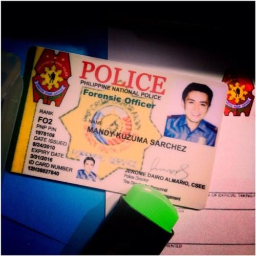 "lance's police i.d. in the film ""beyond that door"""