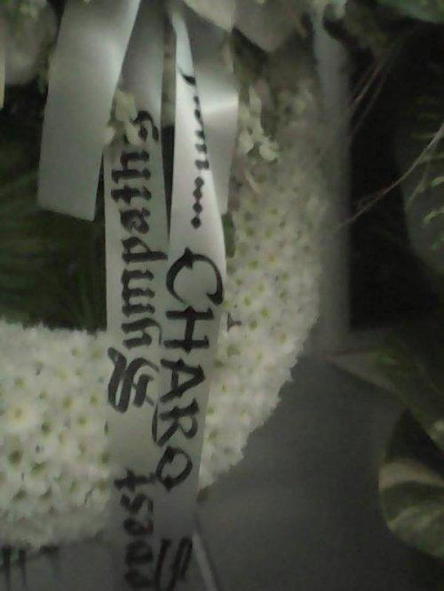 FLOWERS FROM MS. CHARO SANTOS CONCIO