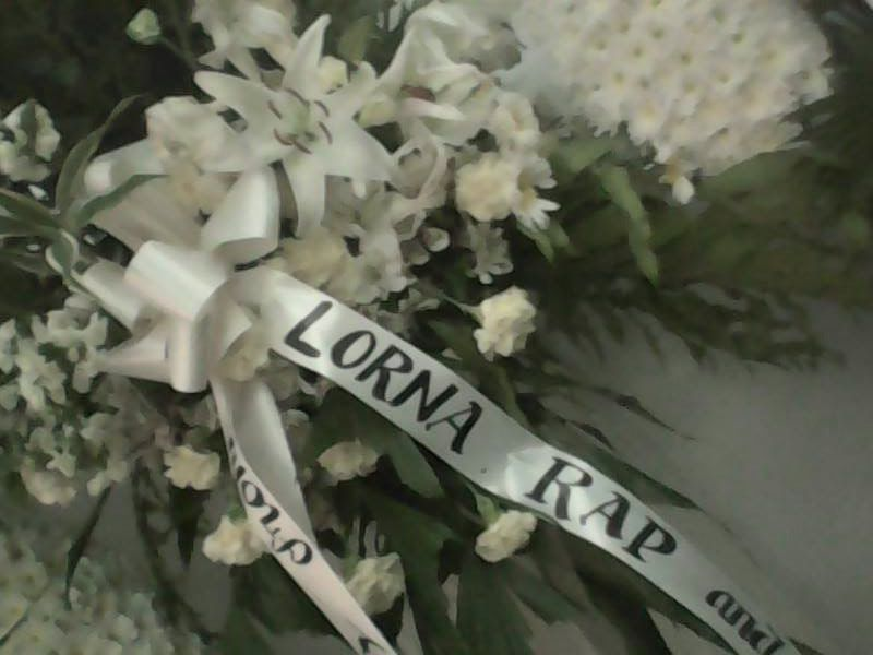 flowers from lorna tolentino and rap fernandez