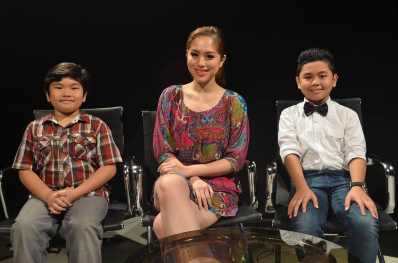 "ms carla lizardo, host of ""personage"" with young guests"